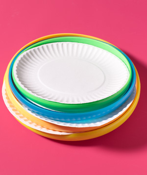 Frisbee® as Paper Plate Holder