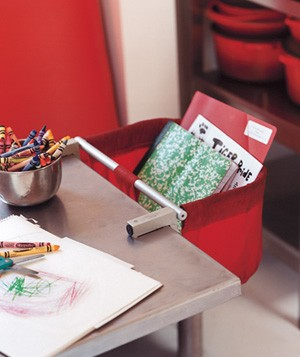High Chair as Mail Holder