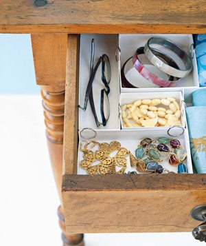 Jewelry Box as Drawer Organizer