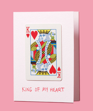 Creative homemade valentines card ideas real simple diy valentine king of hearts playing card solutioingenieria Image collections