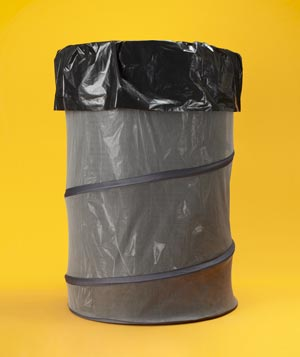 Collapsible Laundry Bins as Garbage Bins