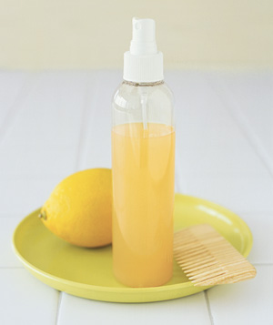 Lemon used to lighten hair