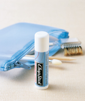 Lip balm used to moisturize cuticles