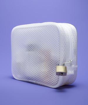 Locked Cosmetic Bag as Childproof Storage