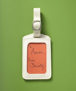 Luggage tag as gift label