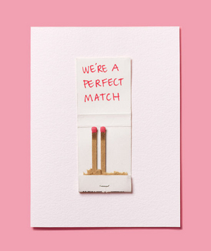 Valentine's Day Cards, matchbook with  we're a perfect match