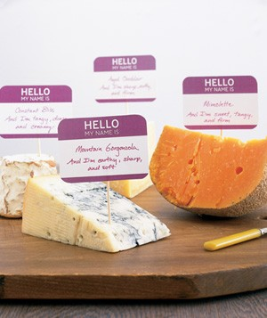 Name tags used to identify cheese