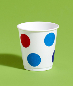 New use:office dots as party cup decoration