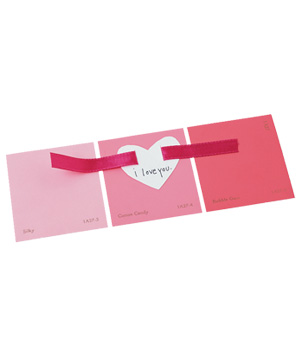 Paint sample strip Valentine