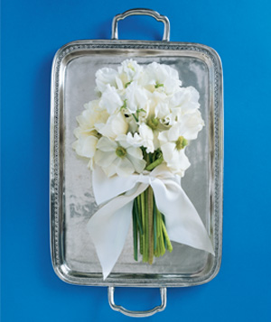 Pewter Tray as Guest Book