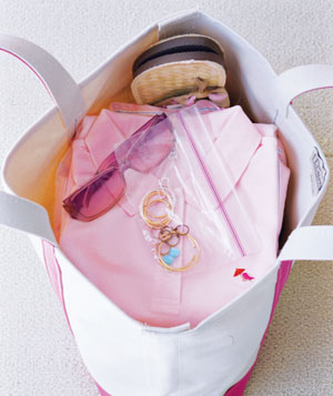 Jewelry in a zipper-seal bag