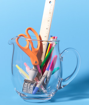 Pitcher as Office Supply Holder
