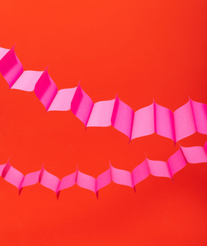 Post-It Notes as Garland