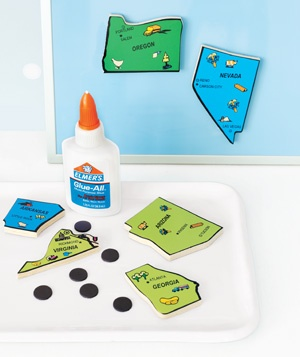 Puzzle Pieces as Refrigerator Magnets
