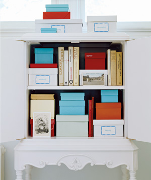 Shoe Box as File Storage