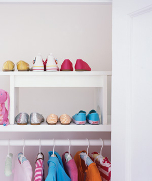 Step Stool as Shoe Organizer