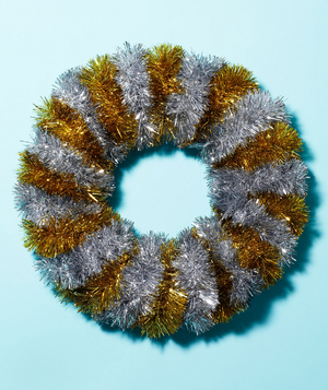 Tinsel as Wreath Garland