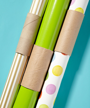 Toilet Paper Tube as Wrapping Paper Holder