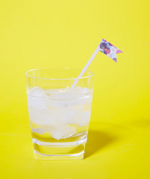 Washi Tape as Cocktail Flag