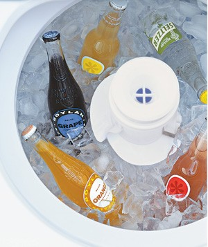 Washing machine used as beverage cooler