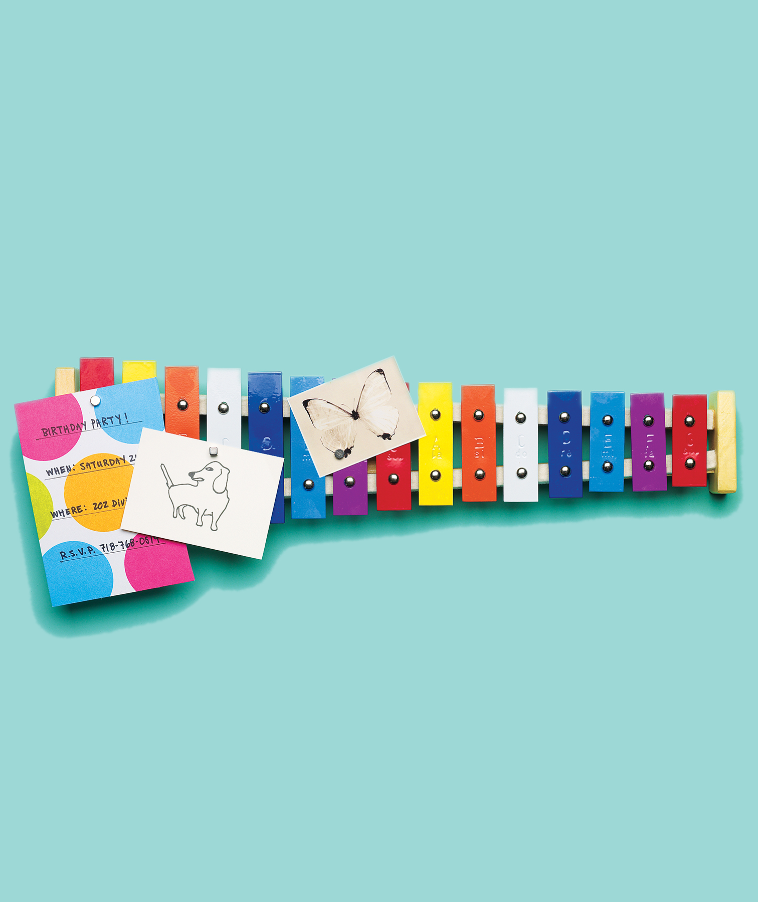 Xylophone as message board