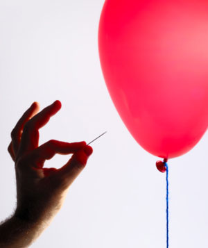 Balloon and pin