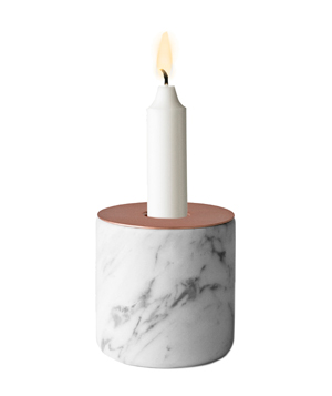 Chunk of Marble Candle Holder