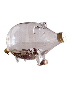 Glassy Piggy Bank by Roost