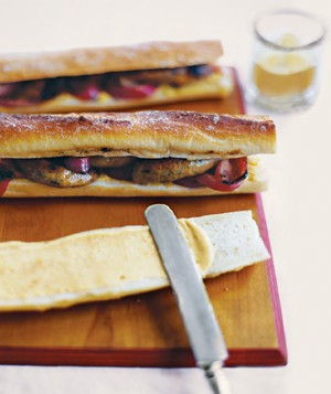 Merguez Ficelle (Sausage and Onion Sandwich) Recipe - Real..