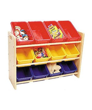 See and Store Toy Rack