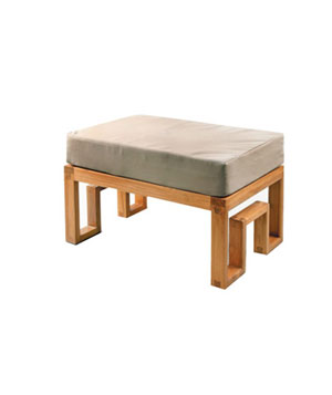 Maku Furnishings Teak Ottoman