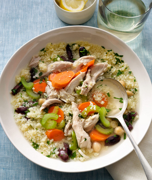 6 easy chicken soup recipes real simple mediterranean chicken soup forumfinder Images