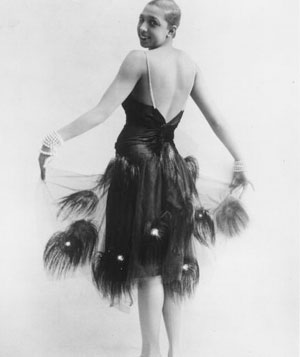 Josephine Baker feather dress