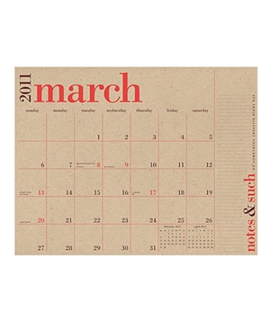 2011 Academic Great Big Wall/Desk Calendar