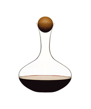 Sagaform Wine Decanter with Oak Stopper