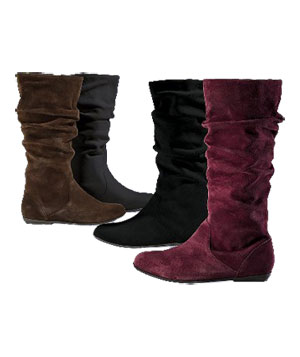 Suede Slouch Boot