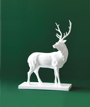 Z Gallerie resin standing buck