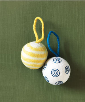 West Elm felt ball ornaments