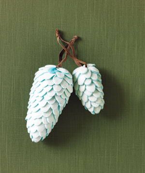 Cody Foster & Co pinecone ornaments