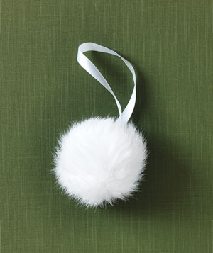Calypso rabbit-fur ornament