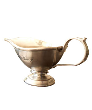 Antique-Silver Gravy Boat