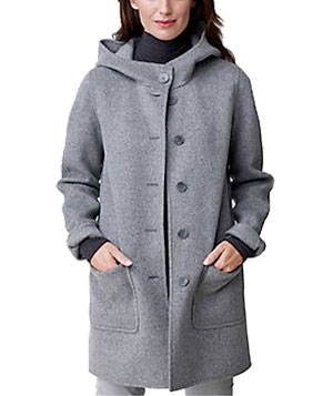 Double-Faced Wool Car Coat