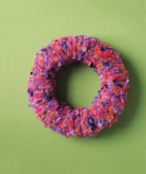 Anthropologie wool wreath