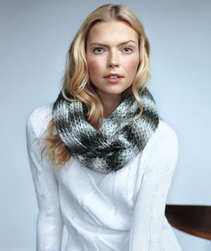 Model in Dressbarn scarf and Jack BB Dakota sweater