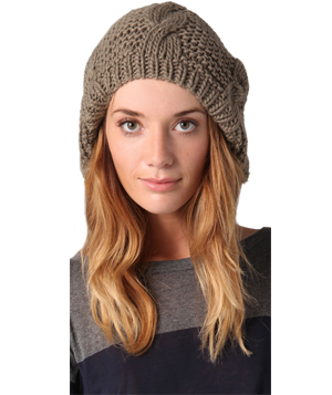 Bop Basics Thick Knit Cable Beret