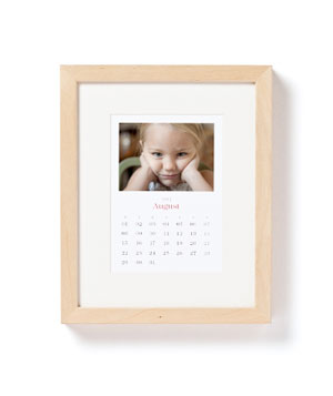 12 Photo Monthly Framed Calendar