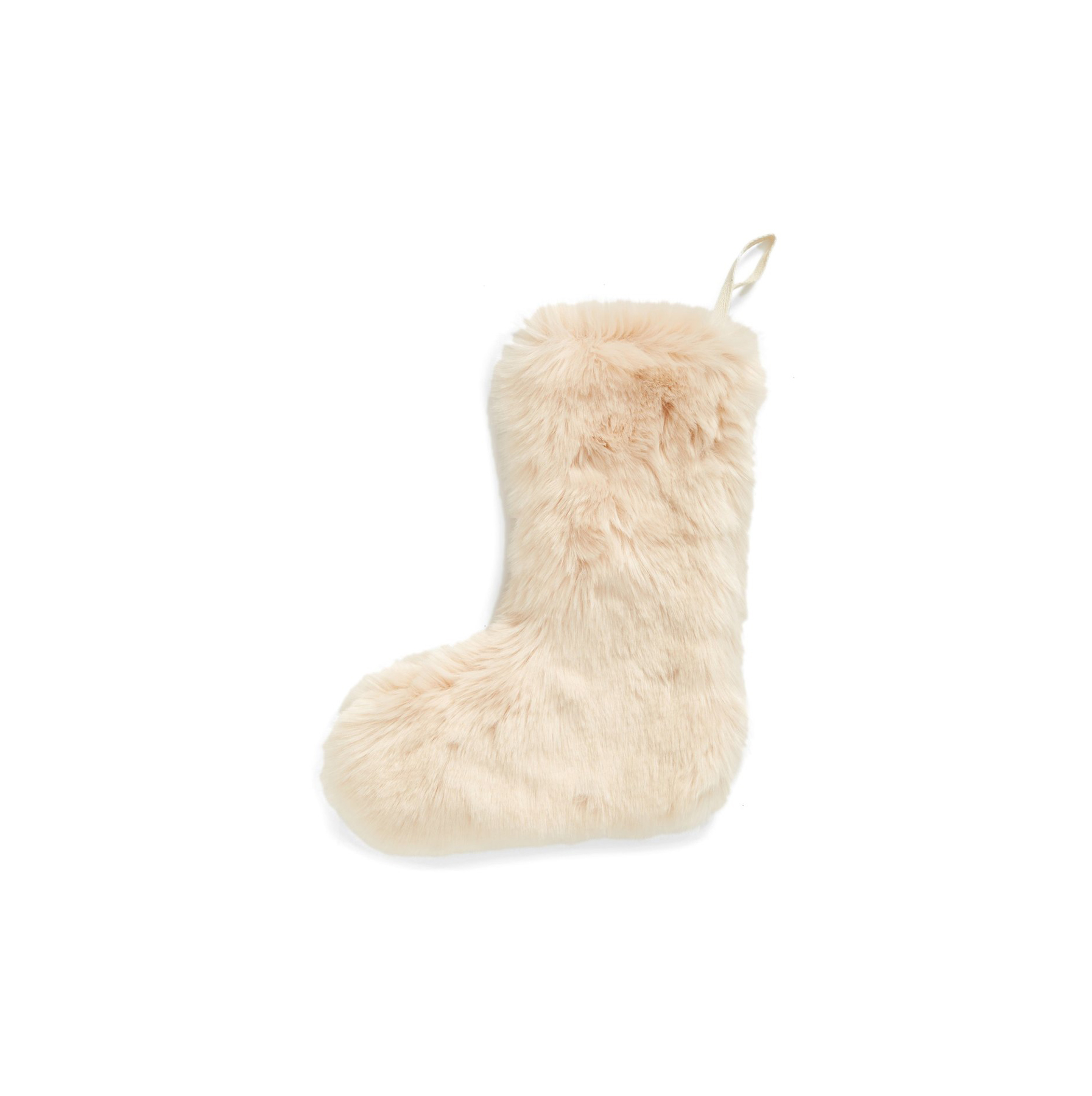 """Cuddle Up"" Faux Fur Christmas Stocking"