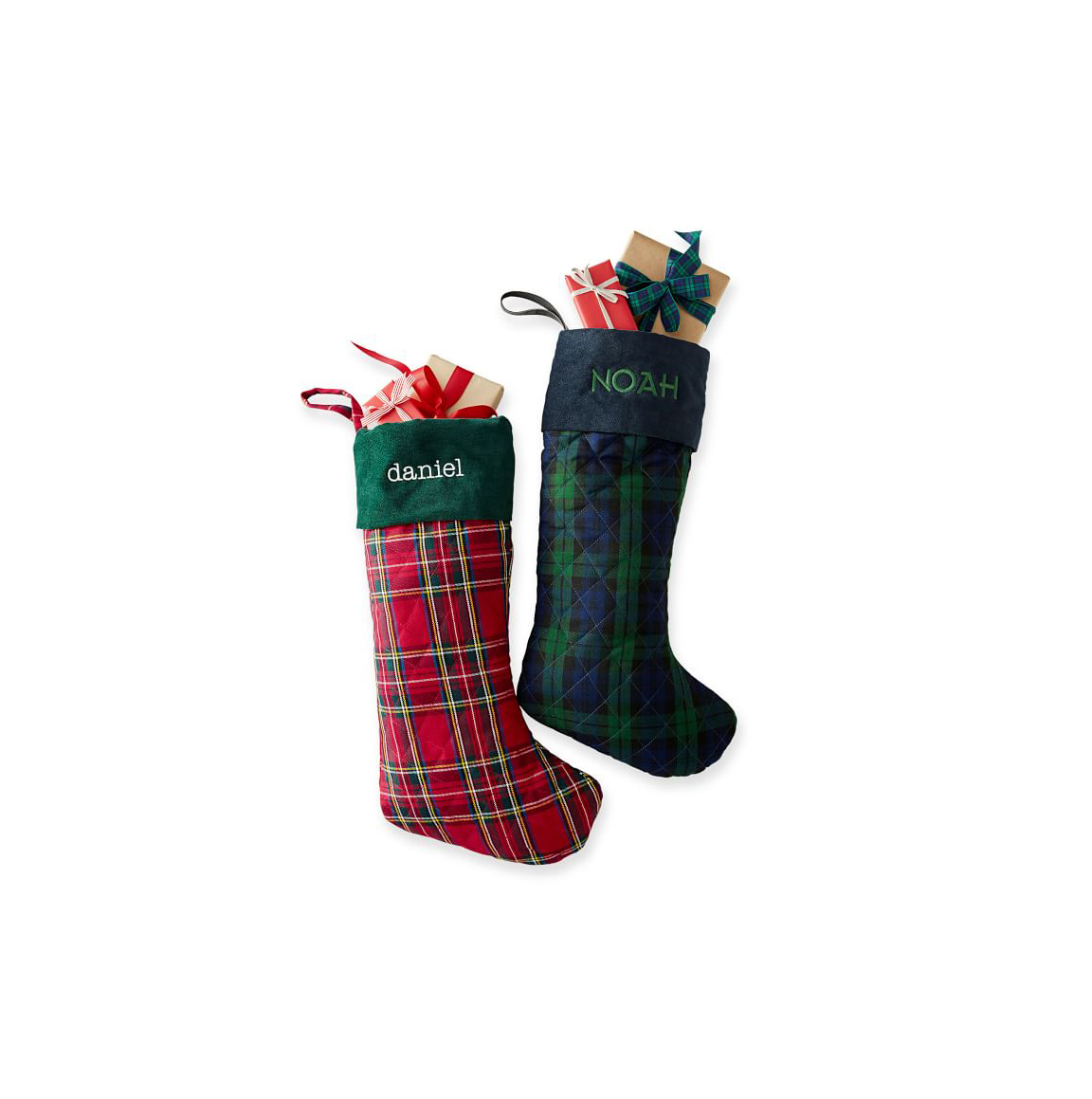 Plaid Quilted Christmas Stocking