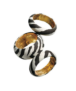 Ted Rossi canvas-covered bangles
