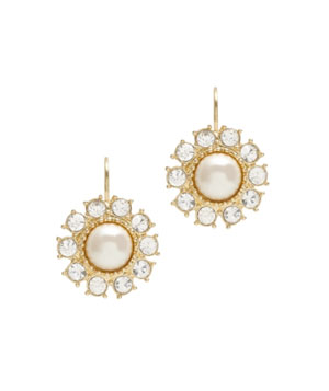 Tuxedo Pearls Lever-Back Earrings
